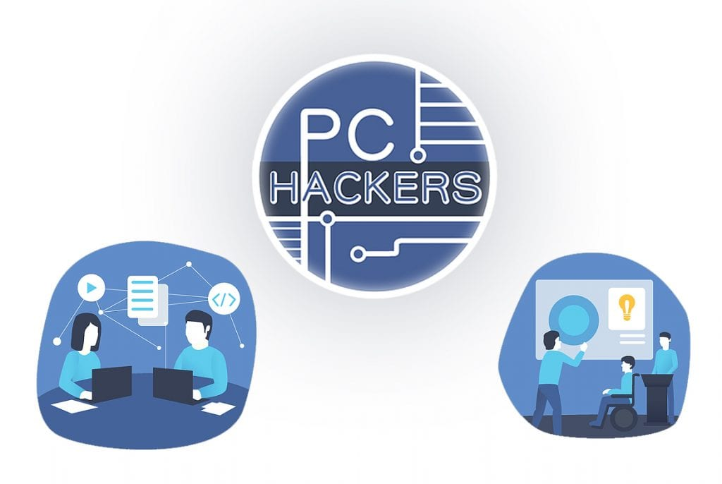 PC hackers logo