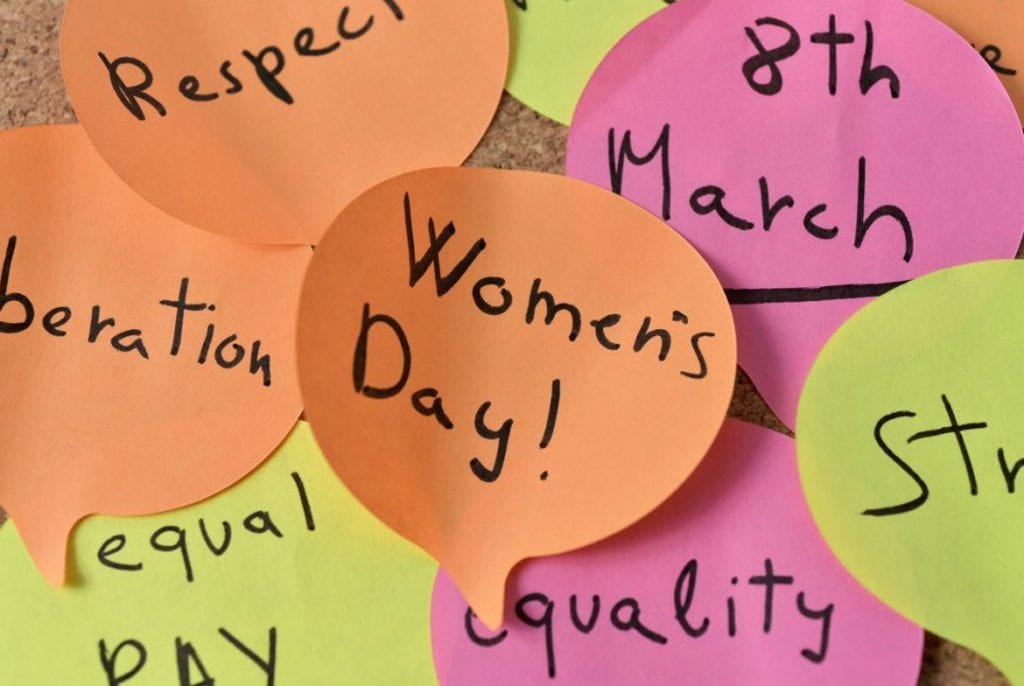 International Women's Day Post its