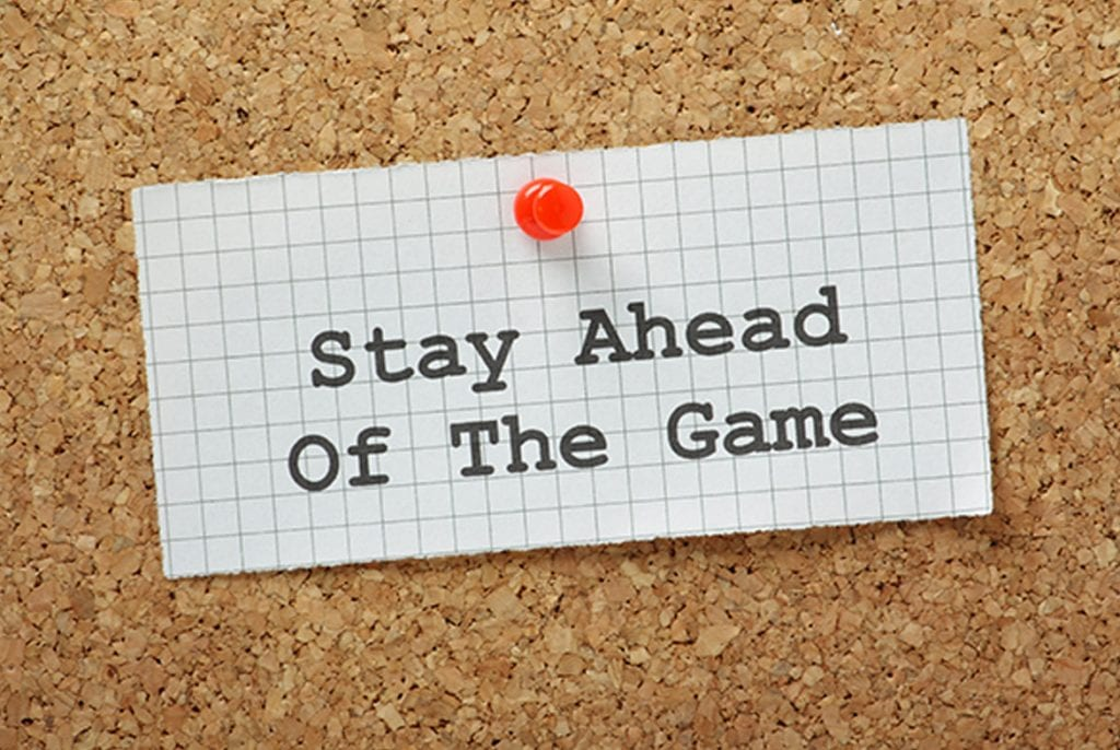Stay Ahead of The Game Post it on board