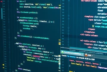 Javascript code on a computer screen